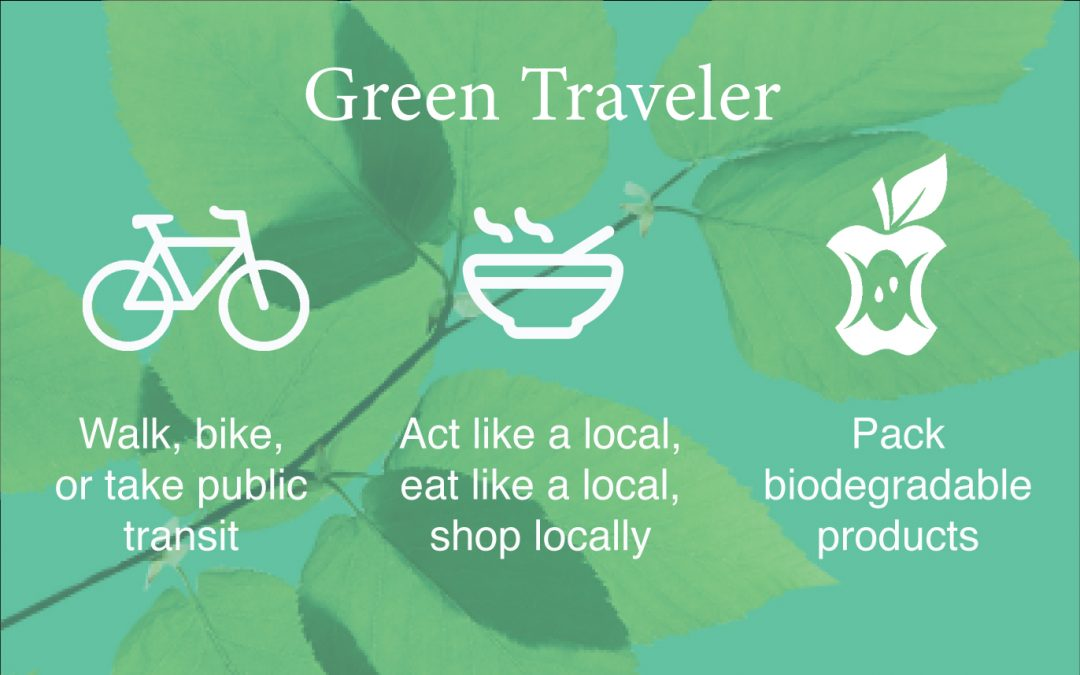 How To Travel Greener- Infographic